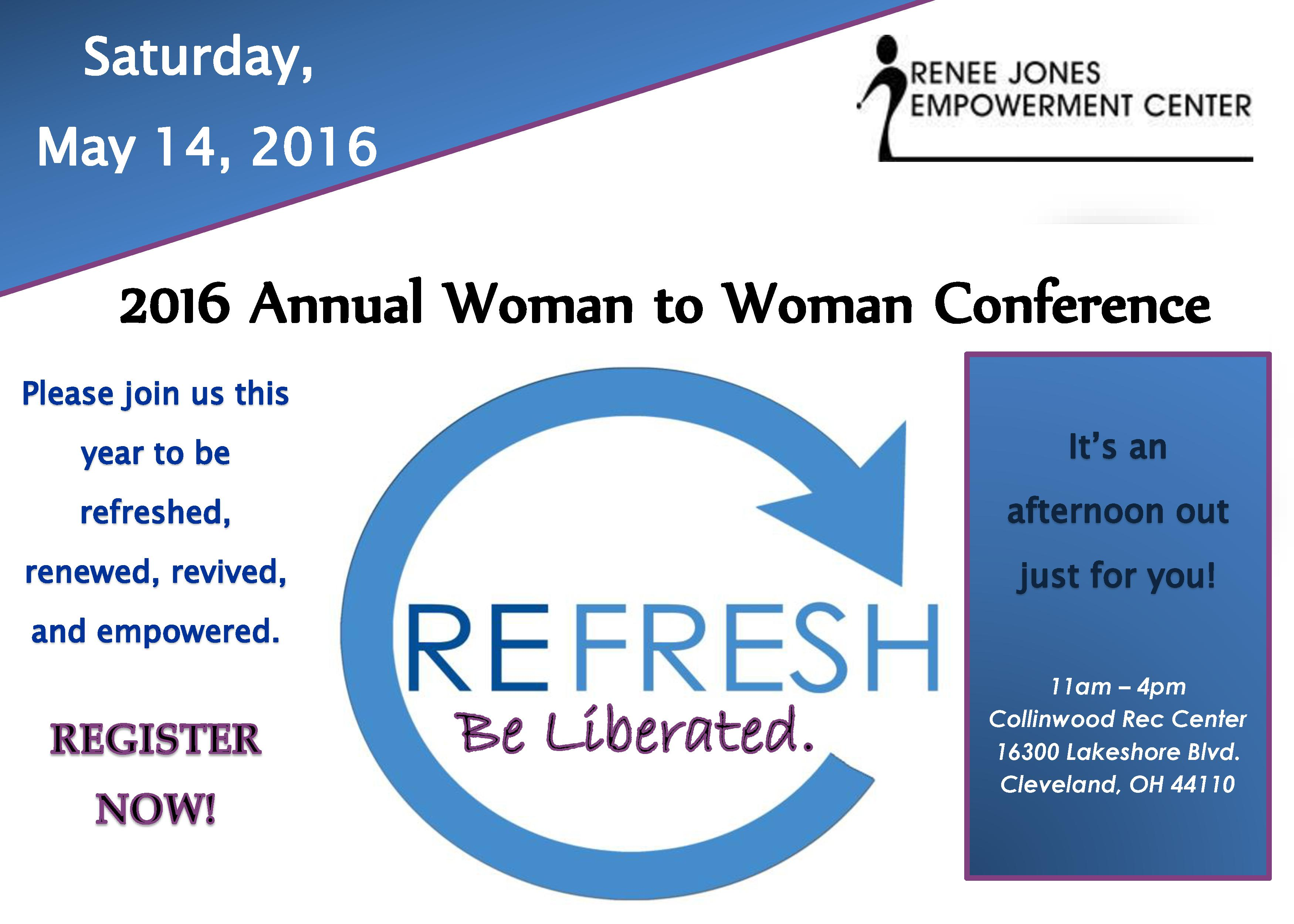 REFRESH Woman to Woman 2016 Postcard1